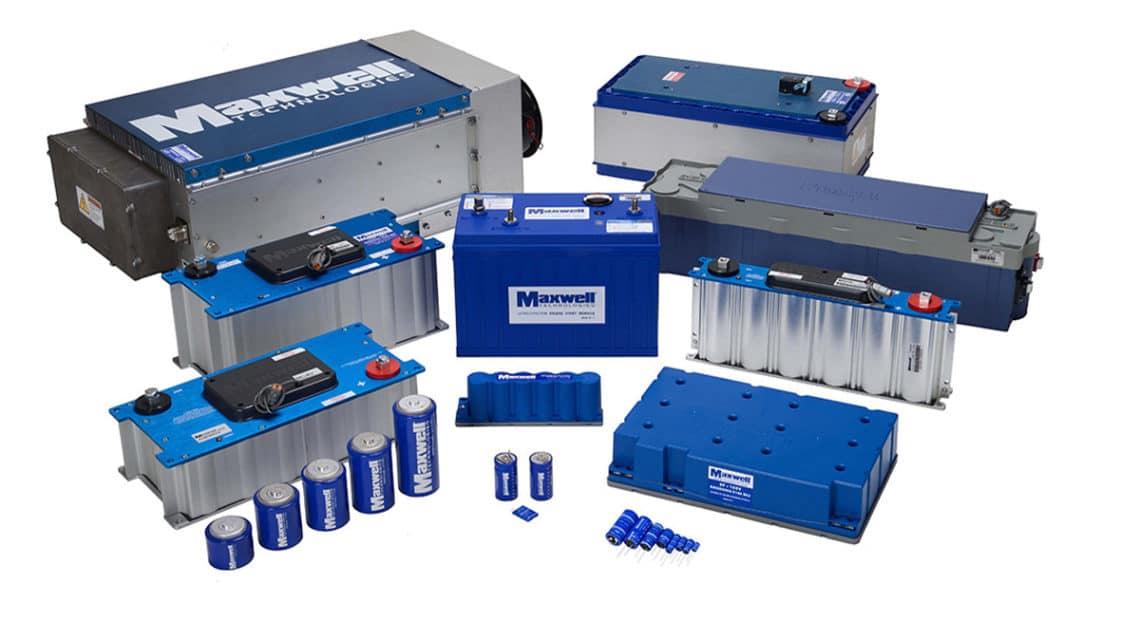 Supercapacitors and modules; credit: Maxwell
